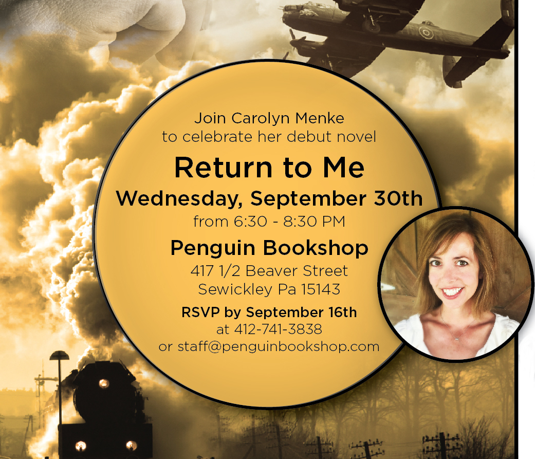 Return to me book launch invite